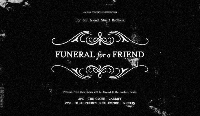 2016年に解散したFUNERAL FOR A FRIEND、10月イギリスにてベネフィット・ショーのために限定復活!