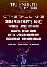 "Crystal Lake主催""TRUE NORTH FESTIVAL 2019""、最終ゲストにSHADOWS、BEFORE MY LIFE FAILS、UNITED、スサシ、Vision Of Fatima、Daybreak Of Silence、The Last Novemberが決定!"