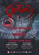OBITUARY、来年1月東阪で来日公演開催決定!30周年迎える『Cause Of Death』フル演奏&初期ナンバー披露!メイン・サポートはWORLD END MAN!