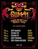 SUM 41、来年1月に待望の単独来日公演を東名阪福で開催決定!