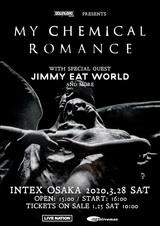 """""""DOWNLOAD JAPAN 2020""""のヘッドライナー務めるMY CHEMICAL ROMANCE、3/28に大阪公演開催決定!スペシャル・ゲストにJIMMY EAT WORLD!"""