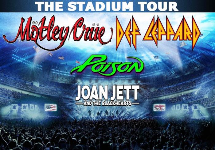 MÖTLEY CRÜE × DEF LEPPARD、ダブル・ヘッドライナーで北米スタジアム・ツアー開催!POISON、JOAN JETT & THE BLACKHEARTSもゲスト参加!