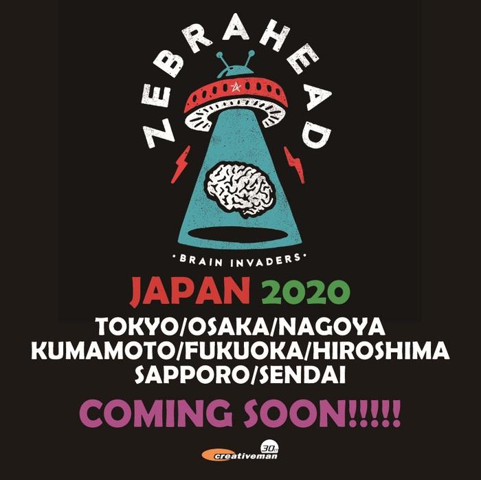 ZEBRAHEAD、6月に8都市でジャパン・ツアー開催決定!
