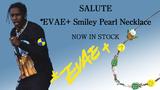 "Evae mob(エバー・モブ)からA$AP ROCKEYの着用で話題沸騰中の""*EVAE+ SMILEY PEARL NECKLACE""(スマイリー・ネックレス)の新作が一挙入荷!"