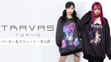 TRAVAS TOKYO(トラヴァストーキョー)から新作のプルオーバー・パーカーや拘りのデザインのスウェット・シャツを含む全8アイテムがゲキクロに一挙入荷!