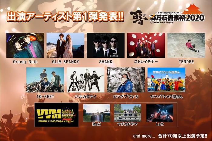 """""""百万石音楽祭2020""""、出演アーティスト第1弾で10-FEET、SHANKら12組発表!"""