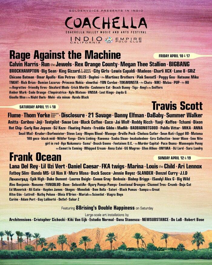 """世界最大規模の野外フェス""""Coachella Festival""""、新型コロナウイルス感染拡大の影響で10月に延期"""