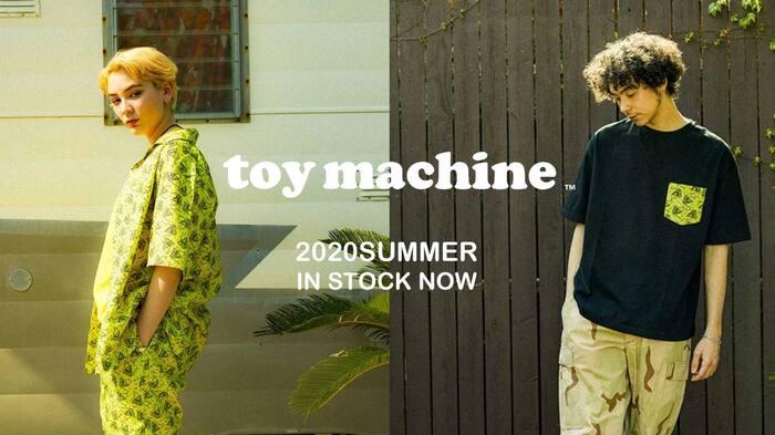 TOY MACHINE(トイ・マシーン)より今の時期に最適な半袖シャツやTシャツなど、2020SUMMER最新アイテムが入荷!