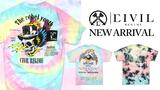 Civil Regime (シビルレジーム) より、鮮やかなカラーリングでスタイリングを華やかにしてくれるタイダイTシャツが3型入荷!