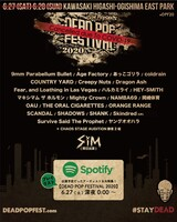 "SiM、今週末開催予定だった主催野外フェス""DEAD POP FESTiVAL 2020""最終出演者発表。同ラインナップによるSpotify公式プレイリストを今晩配信"