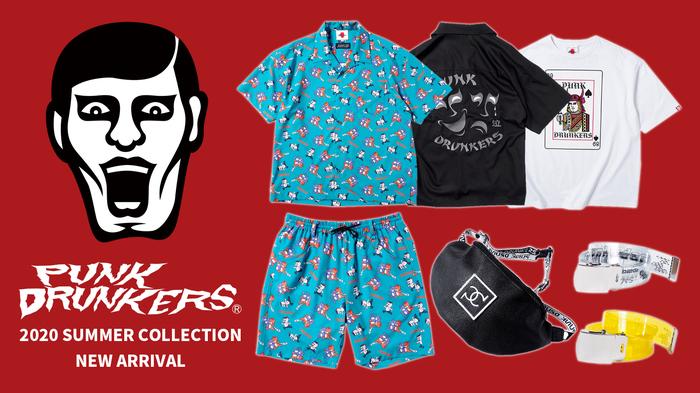 PUNK DRUNKERS (パンクドランカーズ)より、謎多きアパレルブランド、「KUDAN」とのコラボアイテムや半袖シャツ、Tシャツなど2020 SUMMER COLECTION一斉入荷!