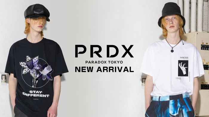 PARADOX (パラドックス) より、2020S/S Collectionのシーズングラフィックを大胆に施したインパクトのあるビッグTシャツが2型入荷!