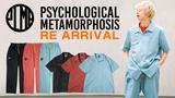 PSYCHOLOGICAL METAMORPHOSIS (サイコロジカルメタモーフォーセス)より、セットアップとしてもおすすめな半袖ワークシャツとチノパンが再入荷!