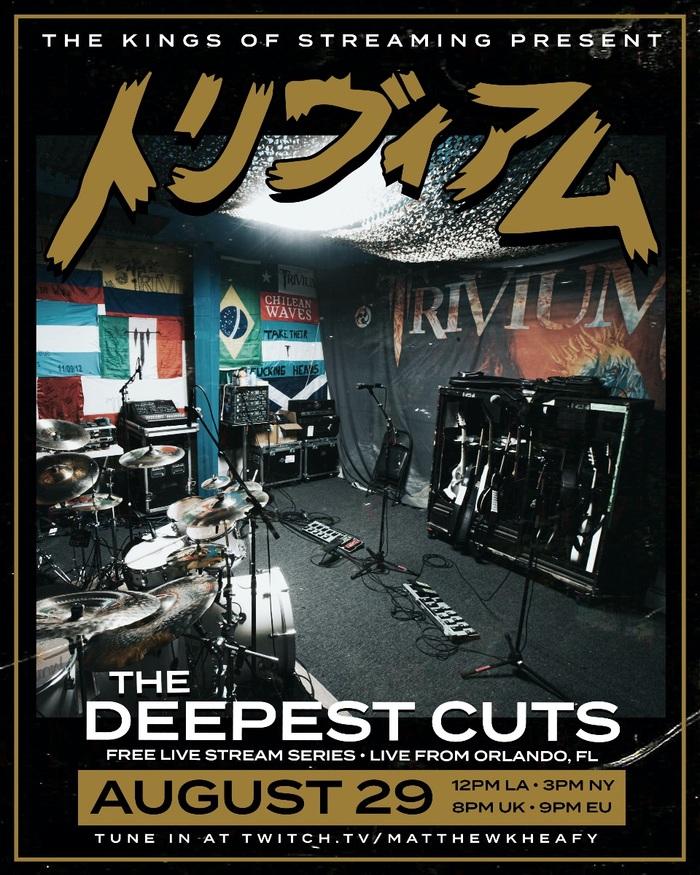 "TRIVIUM、レア曲セットリストのライヴ配信""The Deepest Cuts""今週末開催決定!"