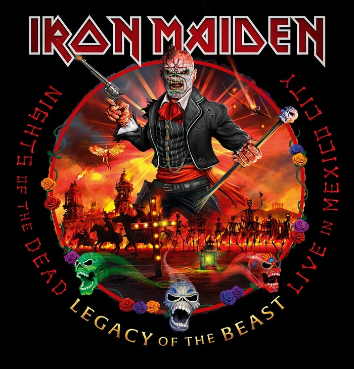 IRON MAIDEN、全17曲100分超えの最新ライヴ・アルバム『Nights Of The Dead, Legacy Of The Beast: Live In Mexico City』リリース決定!