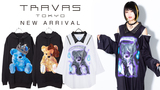 TRAVAS TOKYO (トラヴァストウキョウ)より、まるでシャツを レイヤードしたかのようなフェイクレイヤードロンTや、くまのプリントがキュートなのにどこか病みっぽいパーカーなどが新入荷!