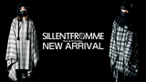 SILLENT FROM ME (サイレントフロムミー)より、風合いのあるチェック生地にロゴマークを刺繍で施した幅190cmのワイドポンチョが新入荷!