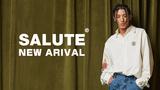 SALUTE (サルーテ)より、袖口に施された装飾とクラシカルな雰囲気のフォトプリントが上品なシャツや、シンプルなデザインでオールラウンドに活躍するカーゴパンツなどが新入荷!