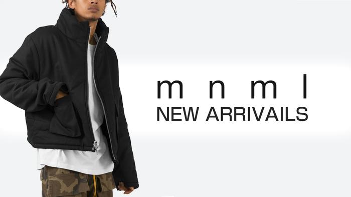 mnml (ミニマル)より、新作アイテム&再入荷アイテムが一斉入荷!ドロップショルダーとクロップ丈がトレンド感満載のジャケットやロングベルトが特徴的なカーゴパンツなどが登場!