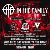 """Zephyren×SHIBUYA THE GAME presents In The Family vol.11""、1/23開催決定!MAKE MY DAY、チェイスド、miscast(BAND SET)、KOKI TANAKA、ARES INWORDS出演!"