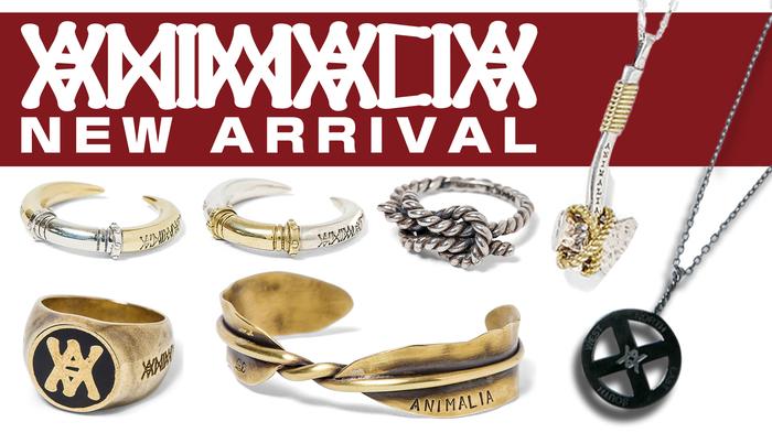 """ANIMALIA (アニマリア)より、秘密結社を思わせるシンプルながら存在感のあるリングや、""""斧""""をデザインに落とし込んだネックレスなど個性派アクセサリーが登場!"""