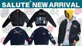 SALUTE (サルーテ)より、上海発のアジアンストリートクリエイター集団が手掛けるブランド、EVAEMOBとのコラボアイテムが新入荷!多数配されたタクティカルポケットや、ワッペンなどブランドらしさ満載のジャケットが登場!