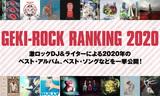2020年の激ロック年間ベストを公開!激ロックDJ&ライター16名によるベスト・アルバム&ソング・ランキングや、ベストMV、グループ、アルバム・ジャケットなどを一挙発表!