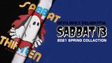 SABBAT13 (サバト13) 2021 SPRING COLLACTIONより、某スケートブランドの代表的デザインをオマージュしたイラストが目を引くロンTや、ちょっと不気味なメッセージが含まれたロンTなどが新入荷!
