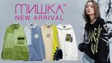 MISHKA (ミシカ)より、ストーンウォッシュ加工のデニムジャケットや、タイダイボディと鮮やかなイエローの切り替えが目を引くスウェットなどが新入荷!