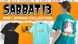 SABBAT13 (サバト13)より、某スケートブランドのデザインをオマージュしたイラストが目を引くTシャツや、グレンチェック生地を採用したスラックスなどが新入荷!