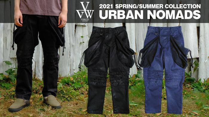 VIRGO (ヴァルゴ)より、ブランド史上最高峰のカーゴパンツが登場。ムササビをイメージしたBIGポケットやクラストパンツを意識した膝部分など、日本製の渾身の一本。
