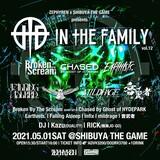 """Zephyren×SHIBUYA THE GAME presents In The Family vol.12""、5/1開催決定!BBTS、チェイスド、Earthists.、Falling Asleep、Infix、音武者、mildrage出演!"
