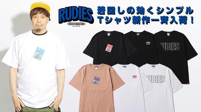 TAKUMA(10-FEET)をモデルに起用!RUDIE'S (ルーディーズ) より、ゲストパスをプリントした音楽テイスト溢れるTシャツやポケット付きのビックTシャツなど、着回しの効く新作シンプルTシャツ一斉入荷!