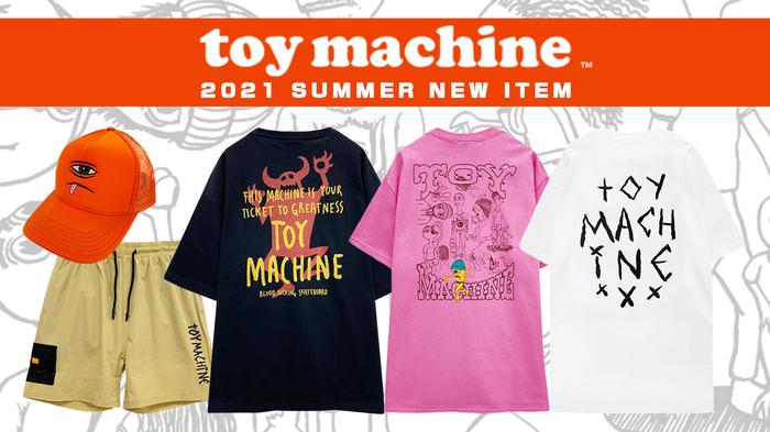 TOY MACHINE (トイマシーン)より、モンスターシルエットをフロントとバックにプリントした存在感のあるTシャツや、さらりとした軽いナイロン素材のショーツなどが新入荷!