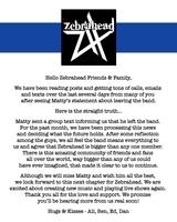 ZEBRAHEAD、Matty Lewis(Vo/Gt)が脱退。バンドは新たなステージに向けて活動継続、2022年には延期になった日本ツアーも予定