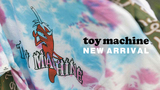 TOY MACHINE (トイマシーン)より、色鮮やかなタイダイボディにブランドらしいインパクト抜群なイラストをプリントしたTシャツや、トランジスターセクトが唐辛子に扮した人気のデザインを総柄で落とし込んだ開襟シャツなど新入荷!
