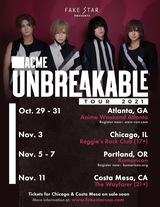 "ACME、2年ぶりアメリカ・ツアー""Unbreakable Tour 2021""今秋開催決定!"
