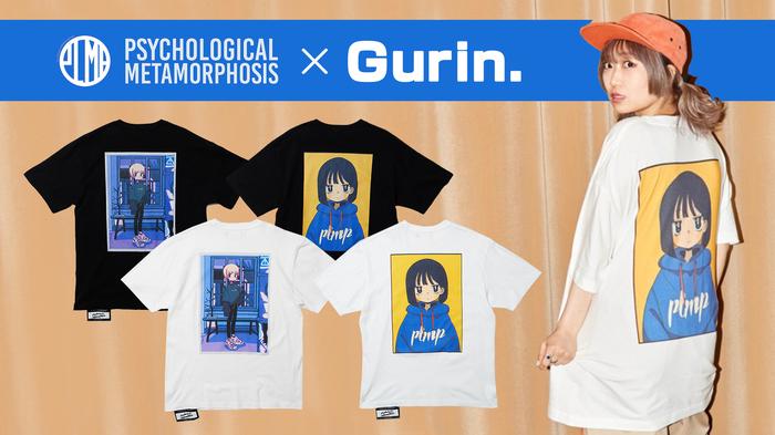 火寺バジル(魔法少女になり隊)をモデルに起用!PSYCHOLOGICAL METAMORPHOSISより、人気イラストレーター『Gurin.』がPLMPオリジナルで書き下ろしたイラストをバックにプリントしたコラボTシャツが新入荷!