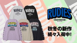 """RUDIE'S (ルーディーズ)より、グラデーションカラーのプリントロゴでアレンジされた人気アイテムや、定番の""""PHAT""""ロゴをあしらったアイテムなど、新作ロンT&ヘアバンドが一斉入荷!"""