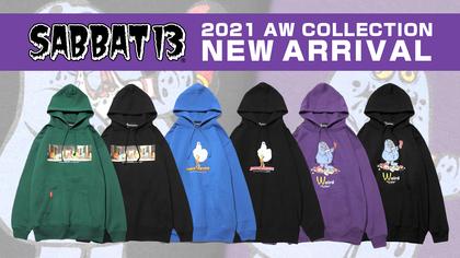 SABBAT13 (サバトサーティーン)2021 AW COLLECTIONより、某ファーストフードショップキャラクターや、最後の晩餐をモチーフとしたプルオーバーパーカーが一斉新入荷!
