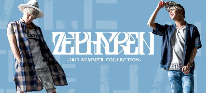 Zephyren(ゼファレン)デニムやショーツ、定番グラフィックにアレンジを加えたTシャツや夏にぴったりなキャップなどが新入荷!