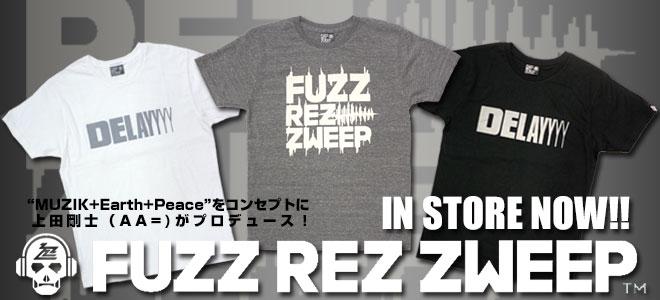 AA=の上田剛士氏がプロデュースのブランドFUZZ REZ ZWEEPからパーカーやロンTなど最新アイテムが一斉入荷!フクザワからはトレーナーなどが再入荷!