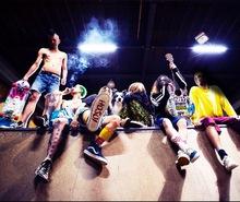 SCUMGAMES マッハGoGoGoコラボTシャツ+サイン入りCD+Dollman Tocco(Vo)私物80's非売品スケートボード・デッキ