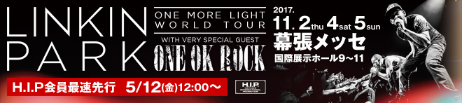"LINKIN PARK ""ONE MORE LIGHT WORLD TOUR""特集!!"